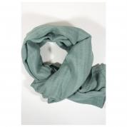 Echarpe Chèche gaz de coton vert celadon