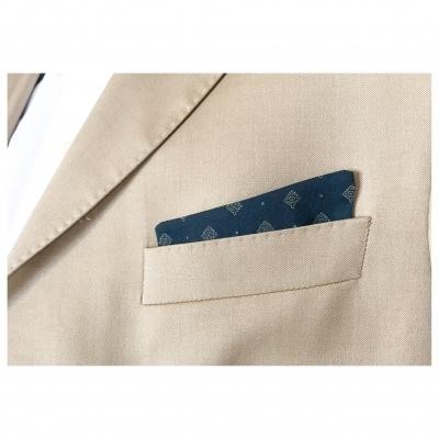 Pochettes costume - jersey losange biege brun