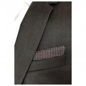 Pochettes costume - Coton noir losanges crème et rose