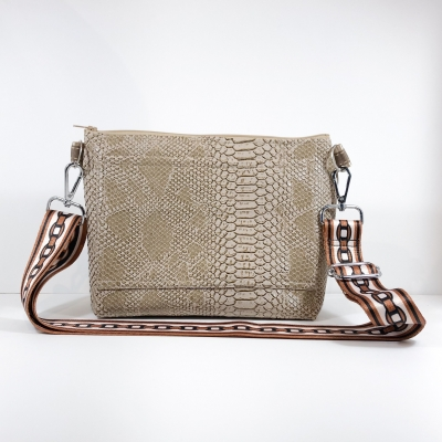 Sangle de Sac Phyton Taupe