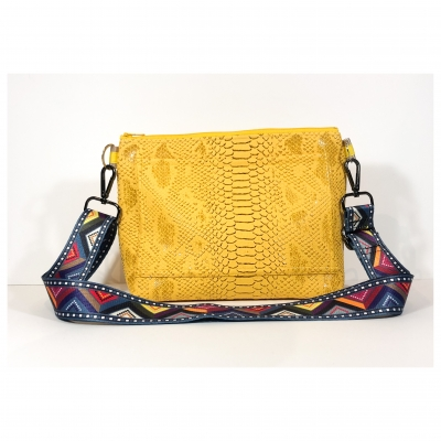 Sangle de Sac Phyton jaune