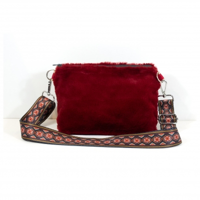 Sangle de Sac Phyton Rouge