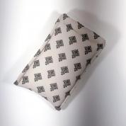 Étuis lunettes matelassé - coton motifs arabesques gris et crème