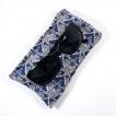 Etuis lunette coton Liberty bleu