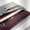 Porte monnaie, passeport, carte identité, simili cuir python rouge