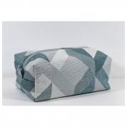 Trousse de Toilette homme rectangle - jacquard vert de gris