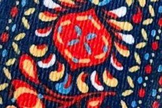 Fleurs Russe Bleu et Rouge